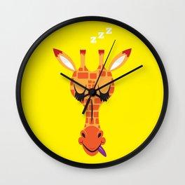 Sleepy Giraffe Wall Clock