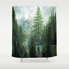 Mountain Morning 2 Shower Curtain