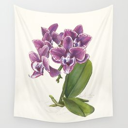 Purple Phalaenopsis Orchid Wall Tapestry