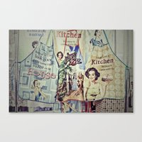cooking Canvas Prints featuring COOKING by Gabriella Vaghini