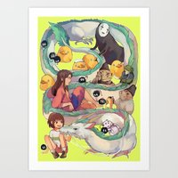 spirited away Art Prints featuring Spirited Away by KEL H