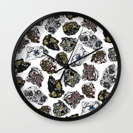 Rock collection Wall Clock