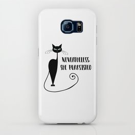Nevertheless, She Purrsisted iPhone Case