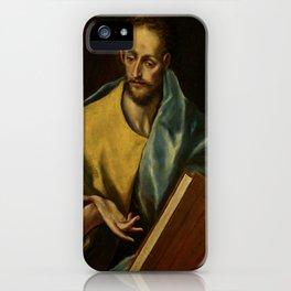 """El Greco (Domenikos Theotokopoulos) """"Saint James the Minor"""" iPhone Case"""