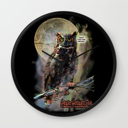The Great Horned Owl & The Terrible Smell Wall Clock
