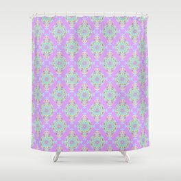Vintage Moroccan Pattern in Lavender Shower Curtain