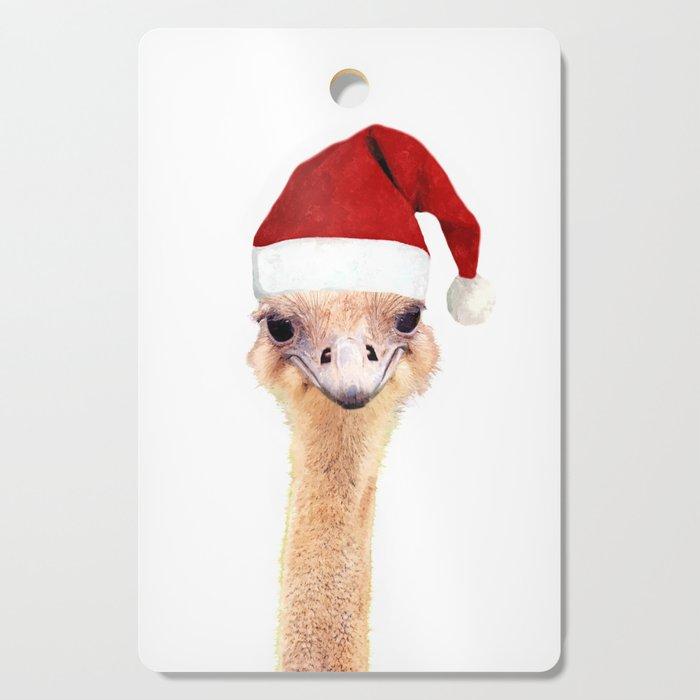 Ostrich Christmas Cutting Board