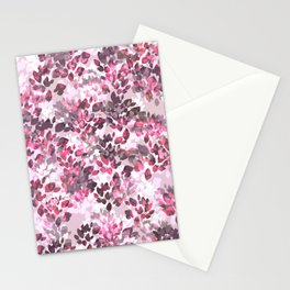 Fall Leaves (Purple) Stationery Cards