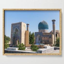 Gur-e Amir mausoleum of Timur - Samarkand, Uzbekistan Serving Tray