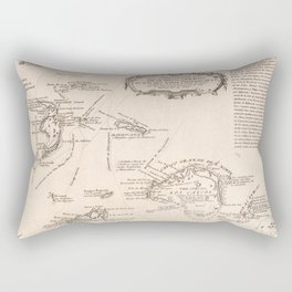Vintage Map of The Turks and Caicos (1782) Rectangular Pillow