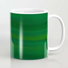Emerald Green Stripes Abstract Coffee Mug