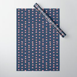 Trendy Uneven Dots Navy | Children's Pattern Wrapping Paper