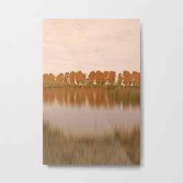 The other side in autumn light Metal Print