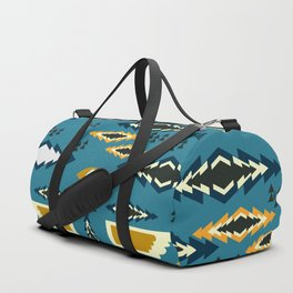 Little ethnic shapes in blue Duffle Bag