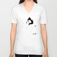 james franco V-neck T-shirts featuring james. by fernk