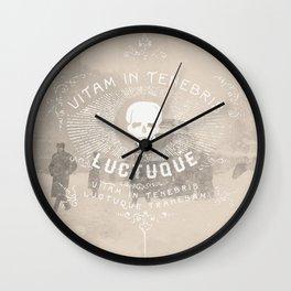 Vitam In Tenebris Luctuque Wall Clock