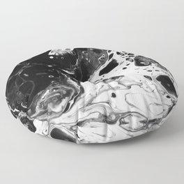 Monochrome Lava Flow Floor Pillow
