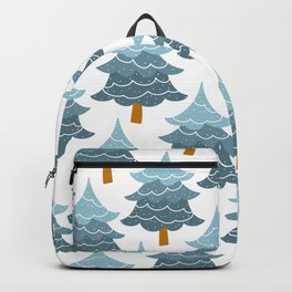 Pattern pine tree on white background Backpack