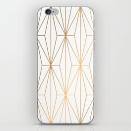 Gold Geometric Pattern Illustration iPhone Skin