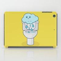 bathroom iPad Cases featuring Bathroom Break by Ava Guerrero