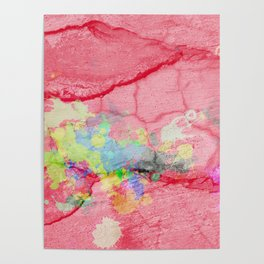 Pink textured Acrylic Abstract Poster