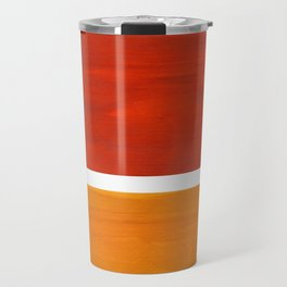 Burnt Orange Yellow Ochre Mid Century Modern Abstract Minimalist Rothko Color Field Squares Travel Mug