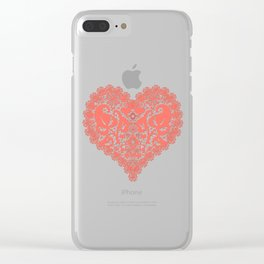 Lace heart Clear iPhone Case