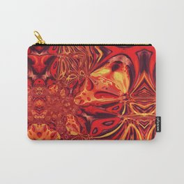 Magma Fractal Flow Carry-All Pouch