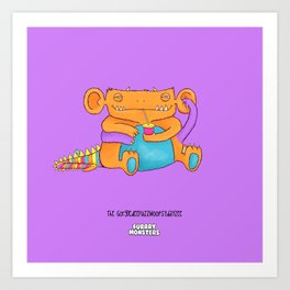 The GorgledeeFuzzwoopsydayzee Art Print
