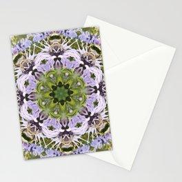 Lacy Lavender Wild Bergamot Kaleidoscope Stationery Cards