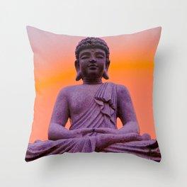 Sundown Buddha Throw Pillow
