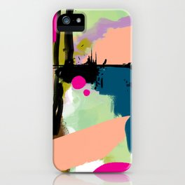 abstract color play iPhone Case