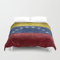 1989 Duvet Covers featuring The national flag of the Bolivarian Republic of Venezuela -  Vintage version by Bruce Stanfield