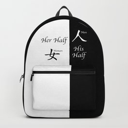 Her And His Half Backpack