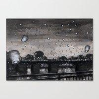 lanterns Canvas Prints featuring Lanterns by Katie Bennett