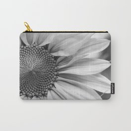 The Flower (Black and White) Carry-All Pouch