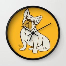 FRENCHY- yellow Wall Clock