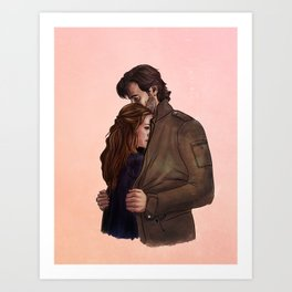 a jacket for two // kabby fanart Art Print