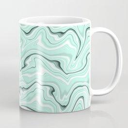 Ice cold blue marble stone,  light turquoise color print  Coffee Mug