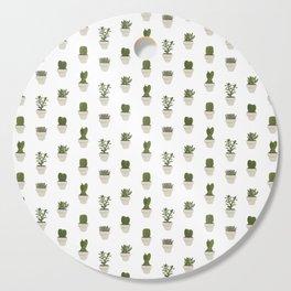 Cacti & Succulents - White Cutting Board