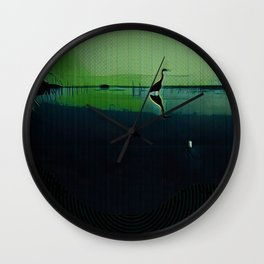 Marsh in Spring Wall Clock
