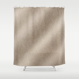 Champagne Ombre Sand Glitter Shower Curtain