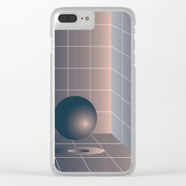 Shape study #6 - Memphis Collection Clear iPhone Case
