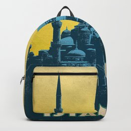Retro travel poster — Istanbul Backpack