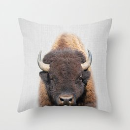 Buffalo - Colorful Throw Pillow