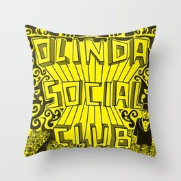 Olinda Social Club Throw Pillow