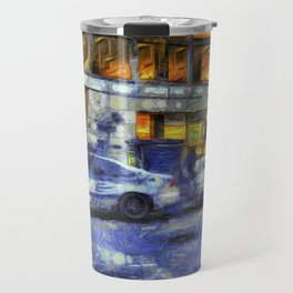 New York police Department Van Gogh Travel Mug