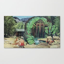 All Kids Out of the Pool - Vintage Collage Canvas Print