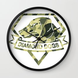 Diamond Camouflage Wall Clock