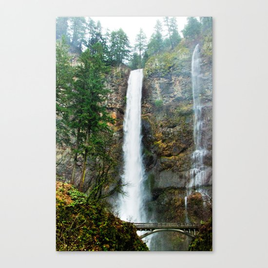 Multnomah Falls in Winter Canvas Print